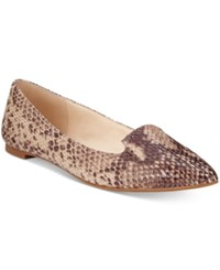 Inc International Concepts Women's Aadi Pointed Toe Flats Only At Macy's Women's Shoes Snake Tan