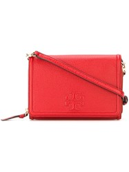 Tory Burch Fold Over Crossbody Bag Red