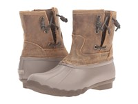 Sperry Saltwater Pearl Taupe Brown Women's Rain Boots