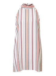 Miss Selfridge Cream Stripe Tunic Multi Coloured
