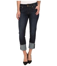 Kut From The Kloth Straight Leg Double Button In Opulent Wash Euro Base Wash Opulent Wash Euro Base Wash Women's Jeans Blue