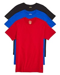 Polo Ralph Lauren Classic Crewneck Tee Pack Of 3 Royal Black Red