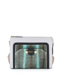 Daphne Watersnake And Leather Clutch Bag Glass Women's Jason Wu