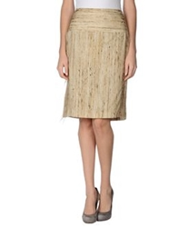 Genny Knee Length Skirts Beige