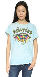Madeworn Rock Beatles Mystery Tour Tee Washed Blue