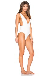 Skye And Staghorn Plunge Swimsuit White