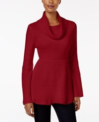 Styleandco. Style Co. Ribbed Cowl Neck Sweater Only At Macy's New Red Amore
