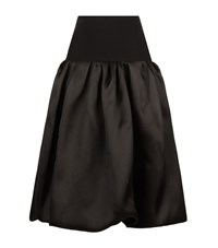 Oscar De La Renta Silk Bubble Skirt Female Black