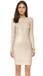 Line And Dot Sequin Dress Pale Pink