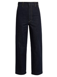 Raey Tailored Denim Cropped Trousers Indigo