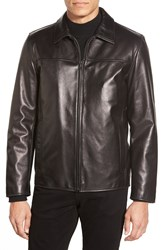 Vince Camuto Leather Jacket With Removable Liner Black