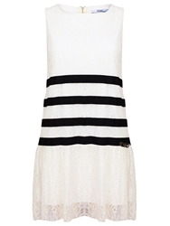 Relish Marshal Sleeveless Short Dress White