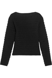 Christophe Lemaire Cable Knit Wool Sweater Black