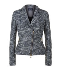 Armani Jeans Boucle Biker Jacket Female Blue
