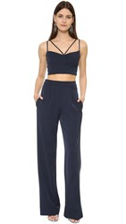 Black Halo Flynn Two Piece Jumpsuit Pacific Blue