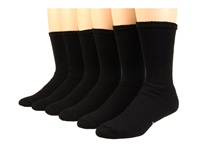 Wigwam King Cotton Crew 6 Pair Pack Black Crew Cut Socks Shoes