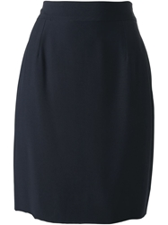 Moschino Vintage Tulip Skirt Blue