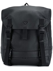 Emporio Armani Safety Buckle Backpack Black