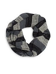 Rogue Striped Infinity Scarf Grey Blue