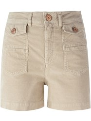 See By Chloe Corduroy Shorts Nude And Neutrals