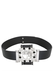 Versus Capsule Wide Leather Belt With Palm Tree Buckle