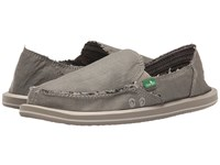 Sanuk Donna Hemp Olive Grey Women's Slip On Shoes Gray