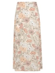 Dorothy Perkins Floral Woven Maxi Skirt Pink