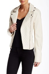 Levi's Quilted Faux Leather Moto Jacket Beige