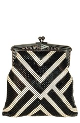 Whiting And Davis 'Heritage Poiret' Mesh Clutch Black Black Pearl