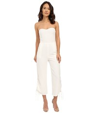 Brigitte Bailey Pesaro Strapless Cropped Jumpsuit W Lace Up Vents Off White Women's Jumpsuit And Rompers One Piece