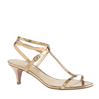 J.Crew Greta Metallic Sandals Brocade Gold