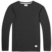Norse Projects Long Sleeve Niels Basic Tee Charcoal Melange