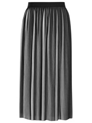 Reiss Adalie Pleated Skirt Off White Black