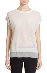 Women's Vince Wool And Cashmere Cap Sleeve Top Off White