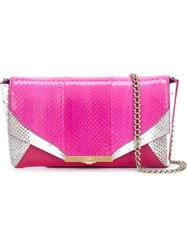 Khirma Eliazov 'Roya Envelope' Clutch Bag Pink And Purple