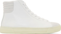 Damir Doma White Leather And Suede High Top Sneakers