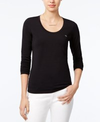 Armani Exchange Long Sleeve T Shirt Solid Black