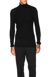 Robert Geller Luca Knit Turtleneck Sweater In Black
