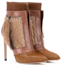 Francesco Russo Calf Hair And Leather Ankle Boots No