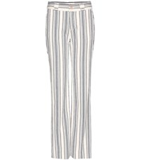 See By Chloe Cotton And Linen Trousers White