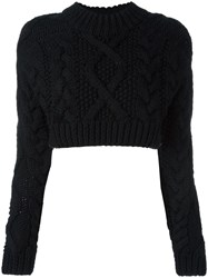 Dkny Backless Cropped Jumper Black