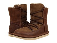 Ugg Lodge Chocolate Leather Women's Boots Brown