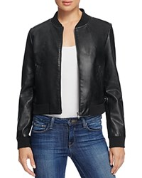 Bagatelle Faux Leather Bomber Jacket Black