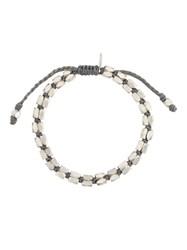 M Cohen M. Beaded Bracelet Metallic