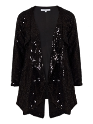 Chesca Sequinned Jacket Black