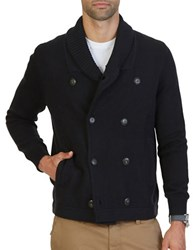 Nautica Cotton Double Breasted Jacket True Black