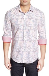 Men's Bugatchi Shaped Fit Circle Print Sport Shirt