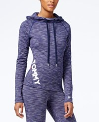 Tommy Hilfiger Space Dyed Logo Hoodie Only At Macy's Denim Combo