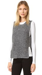 Madewell Structured Sleeveless Pullover Marled Pepper