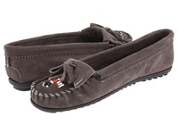 Minnetonka Thunderbird Ii Grey Women's Moccasin Shoes Gray